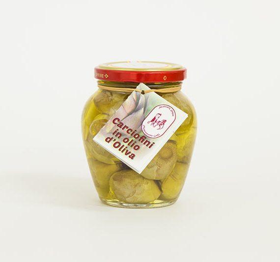 carciofini in olio di oliva