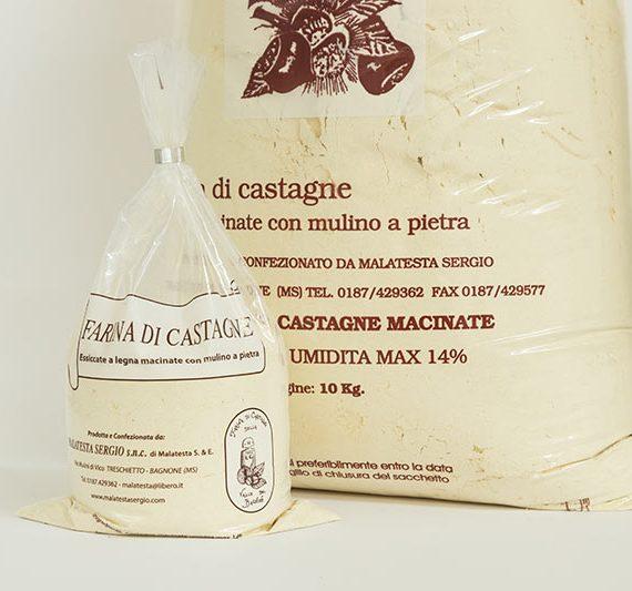 Farina di castagne della valle del Bagnone