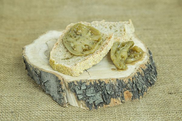pomodori verdi in olio oliva